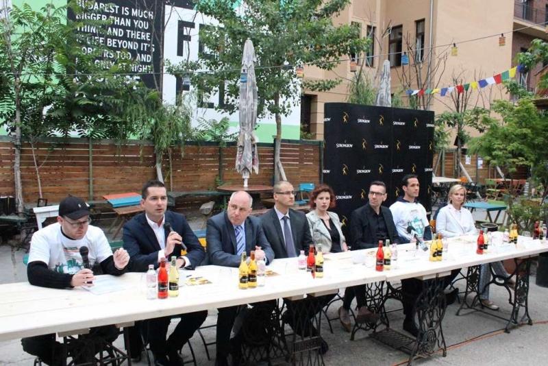 Színes Város Strongbow Budapest - sajtótájékoztató