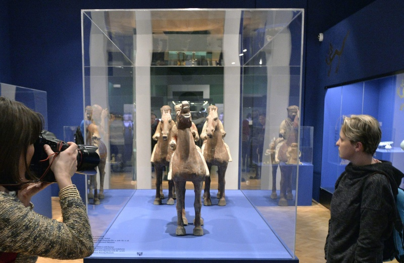 Az ősi Kína kincsei című kiállítás az Iparművészeti Múzeumban - MTI fotó: Máthé Zoltán