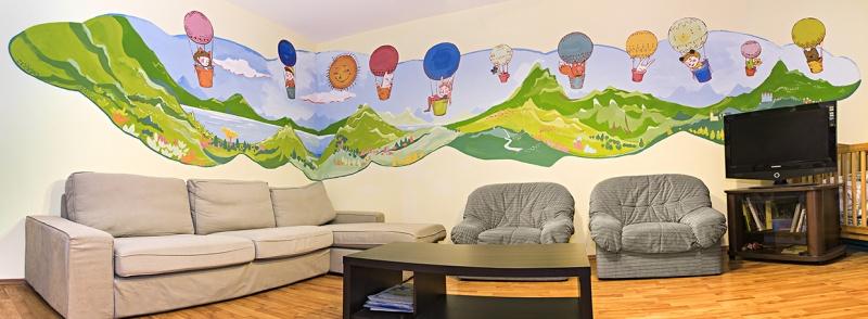 Mama-lakás nappalija, Fotó: Németh Dániel, MOM Park