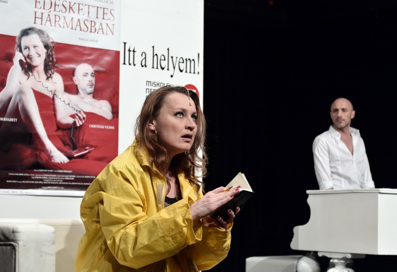 Édeskettes hármasban sajtótájékoztató, Miskolci Nemzeti Színház - Fotó: Gálos Mihály Samu (forrás: Miskolci Nemzeti Színház